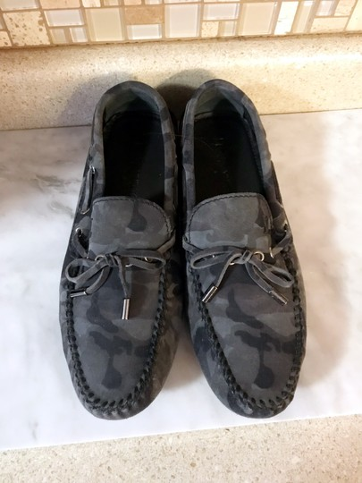 Louis Vuitton Camo Moccasins Slippers Loafers Grey Mules Image 8