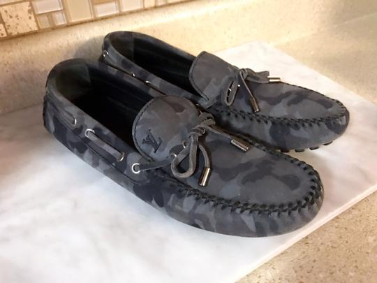 Louis Vuitton Camo Moccasins Slippers Loafers Grey Mules Image 9