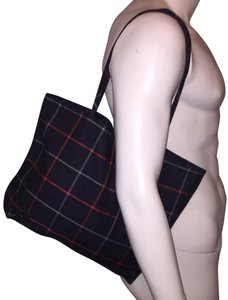 Burberry Tartan Plaid Coated Canvas Color Tote in Multi