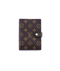 ef8446f4bf0e Louis Vuitton Agenda Pm Monogram Canvas Leather Notebook Planner Cover