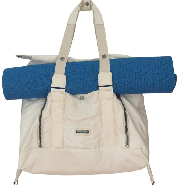 Item - Yoga and Gym White Canvas Weekend/Travel Bag