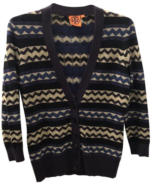 Item - Purple Blue Navy Cream 32113110 Cardigan Size 6 (S)