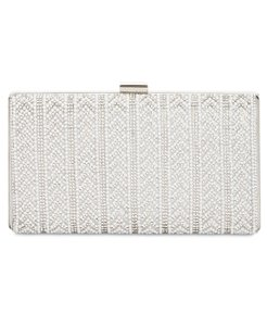 INC International Concepts Silver Clutch