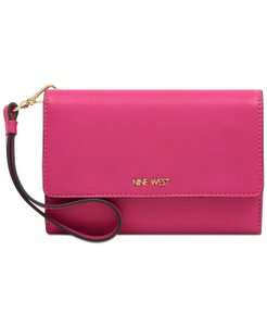 Nine West Nine West Women's Pink Small Tech Wristlet Wallet