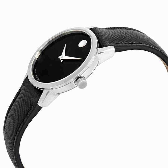 Movado Museum Ladies Leather Watch Image 1