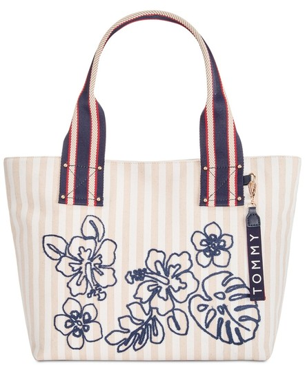 df23efbbe Tommy Hilfiger Bag Women's Classic Floral White Canvas Tote - Tradesy