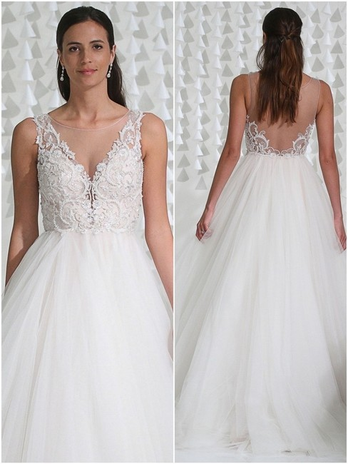 Item - Ivory/Blush Naomi Feminine Wedding Dress Size 8 (M)