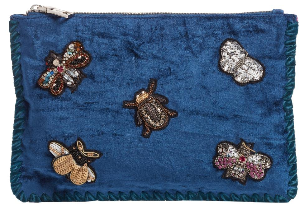 dd487a8c7 Steve Madden Crossbody Beetle Bee Embellished Small Pouch Blue ...