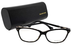 Balenciaga BA5007-005-54 Rectangle Women's Black Frame Clear Lens Eyeglasses
