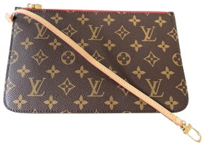 24bb87807c68 Louis Vuitton Clutch Wallets Pouch Lv Monogram Handbags Wristlet in Brown