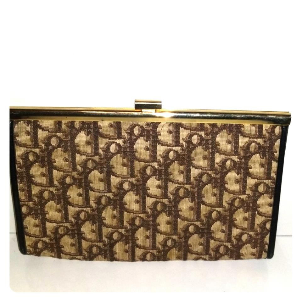 fa2fd91942 Dior Vintage Christian Trotter Brown Canvas Clutch - Tradesy