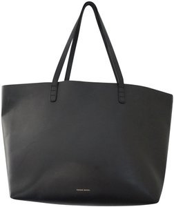 Mansur Gavriel Large Everyday Tote in Black & Silver