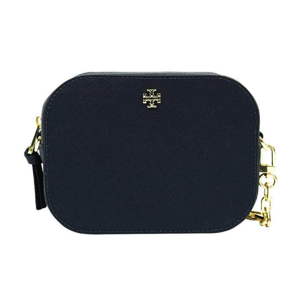 ROBINSON ROUND NAVY BLUE SAFFIANO LEATHER CROSSBODY BAG NEW TORY BURCH 43485