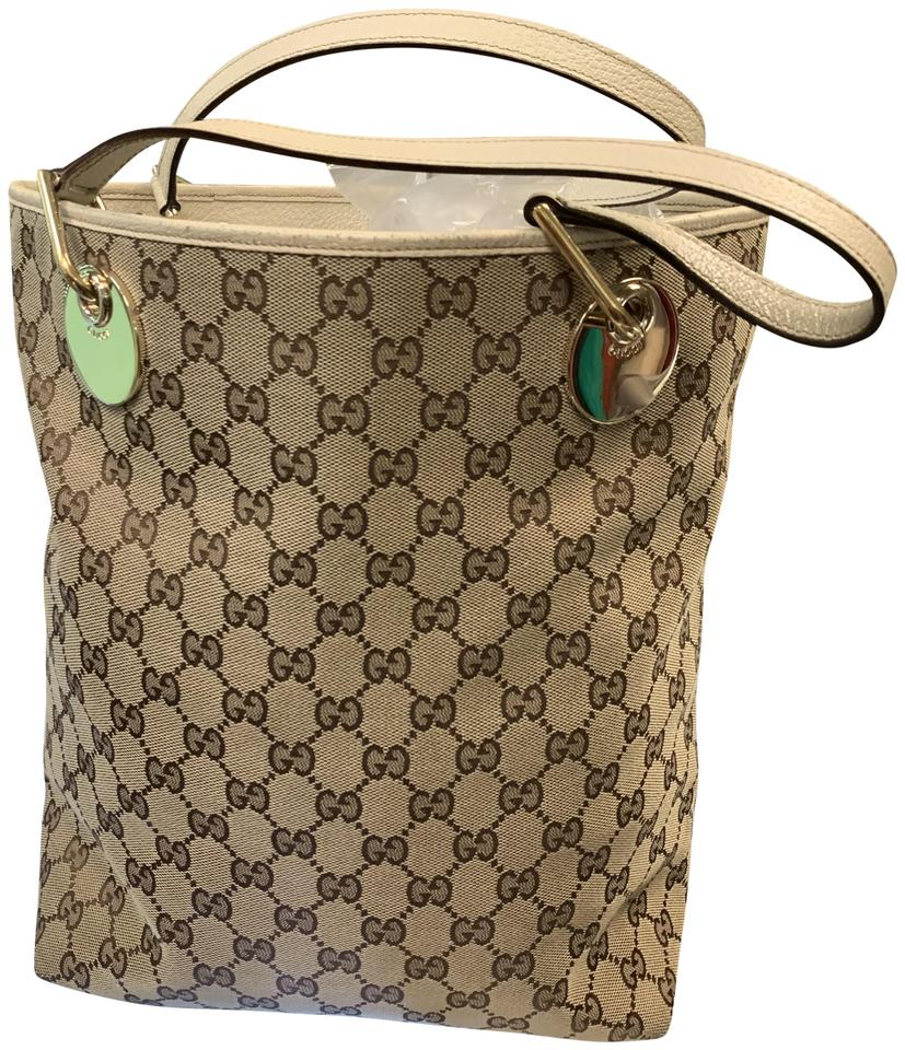 65fb383bb7cbfa Gucci Gg Guccissima Logo Tall North South Brown/Beige Undertone Tote ...