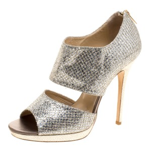 70e8d564a850 Jimmy Choo Glitter Platform Leather Metallic Sandals