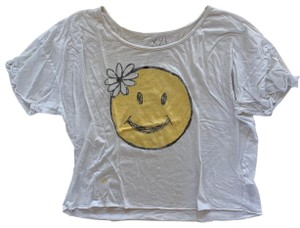 Forever 21 T Shirt White and Yellow