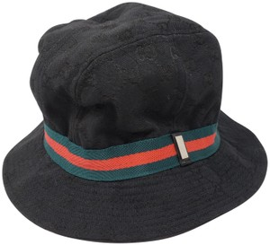 1742e53e65689 Gucci Black Gucci GG web monogram bucket hat XL