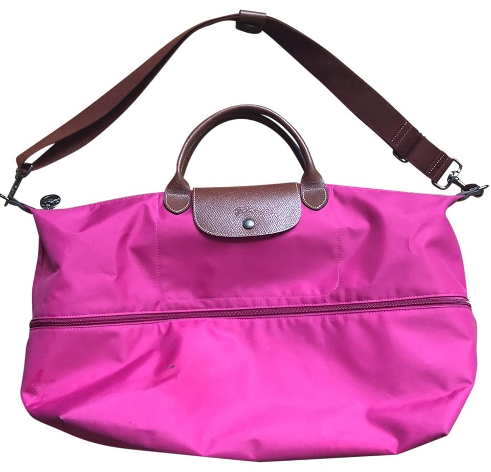 d548312ee73 Longchamp Le Pliage 21-inch Expandable Pink Weekend/Travel Bag - Tradesy