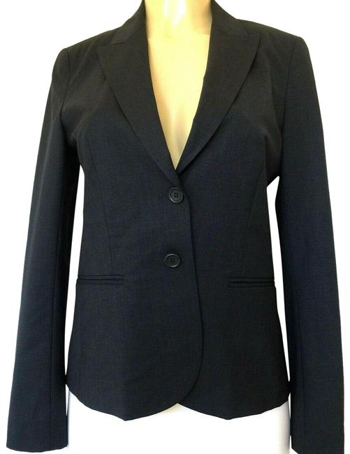 Item - Gray Blue Nichelle Jacket Wool Blend Charcoal 80071129 Blazer Size 8 (M)