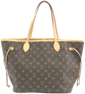 Louis Vuitton Neverfull Mm Monogram Tote Top Shoulder Bag