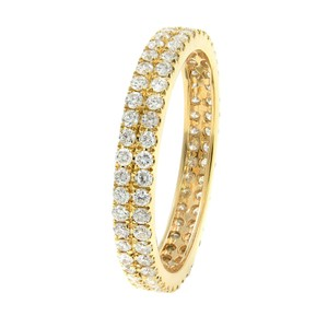 Gavriel's Jewelry Double Row Scoop Micro Pave Round Diamond Eternity Band