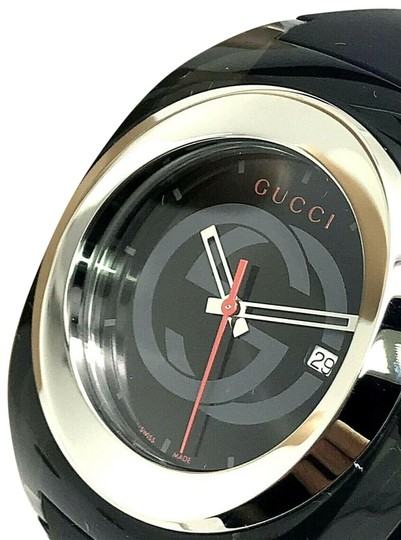 fbd0866b2c6 Gucci GUCCI SYNC YA137101 Black Rubber Band 46mm Black Case Swiss Mens Watch  Image 0 ...