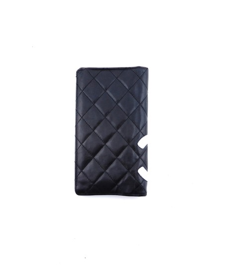 Chanel Quilted Cambon Leather Long Clutch Bifold Wallet Italy Image 1
