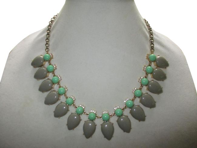 Item - Gray & Green Rhinestone Necklace
