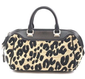 Louis Vuitton Leopard Print Leather Limited Edition Satchel in Brown Black