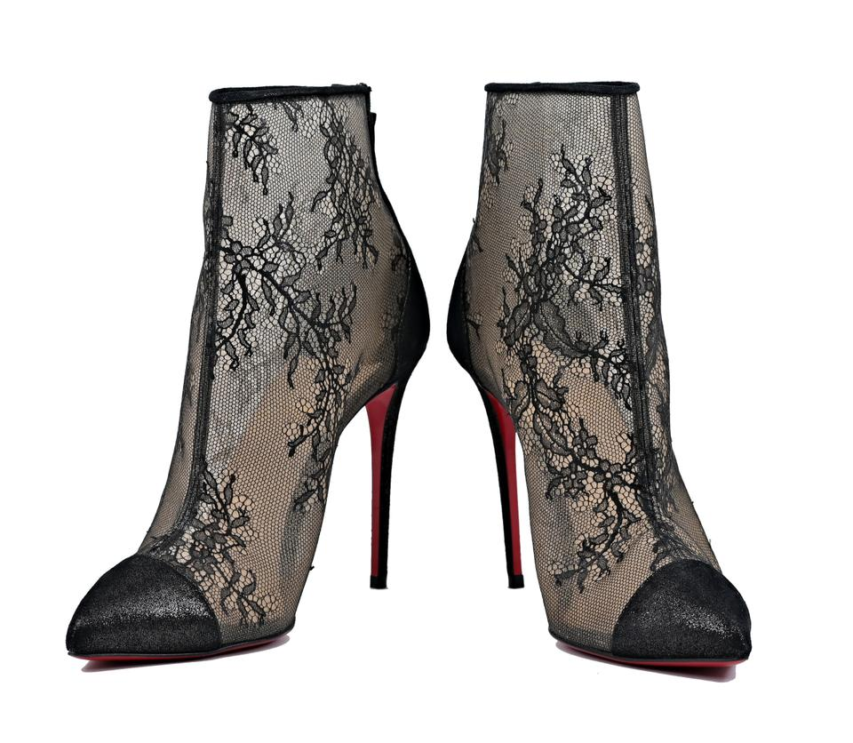 finest selection b4ce6 745fe Christian Louboutin Black Gipsybootie Spc 100 Lace Mesh Heel Pointed  Booties Pumps Size EU 39 (Approx. US 9) Regular (M, B) 20% off retail