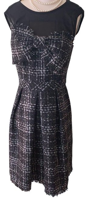 Item - Black Gray and White Short Cocktail Dress Size 2 (XS)