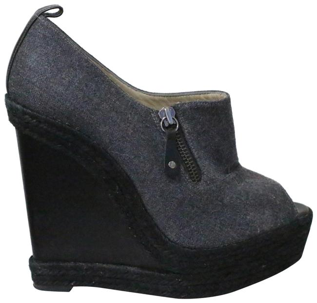 Item - Gray Deroba Flannel Wedges Pumps Size EU 39 (Approx. US 9) Regular (M, B)