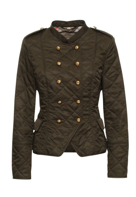 Item - Green Double-breasted Quilted Jacket Size 12 (L)