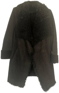 DKNY Realfur Shearling Fur Coat