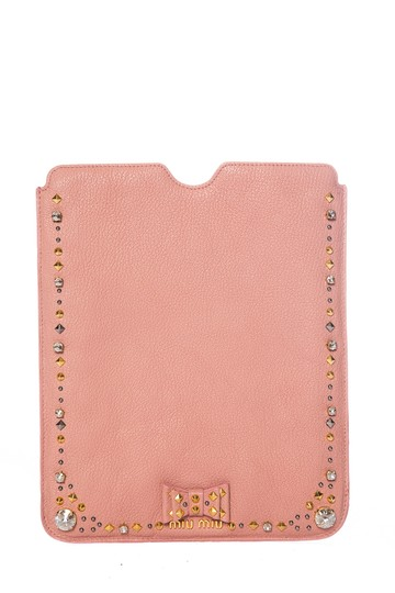 d8cdb4016371 Miu Miu MIU MIU Pink Leather iPad Case Image 0 ...