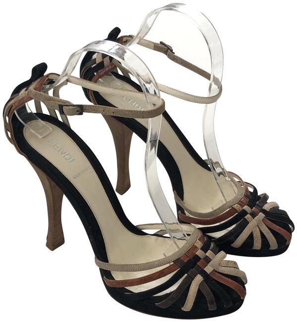 Item - Black and Brown Round Tip Suede Pumps Size EU 40 (Approx. US 10) Regular (M, B)