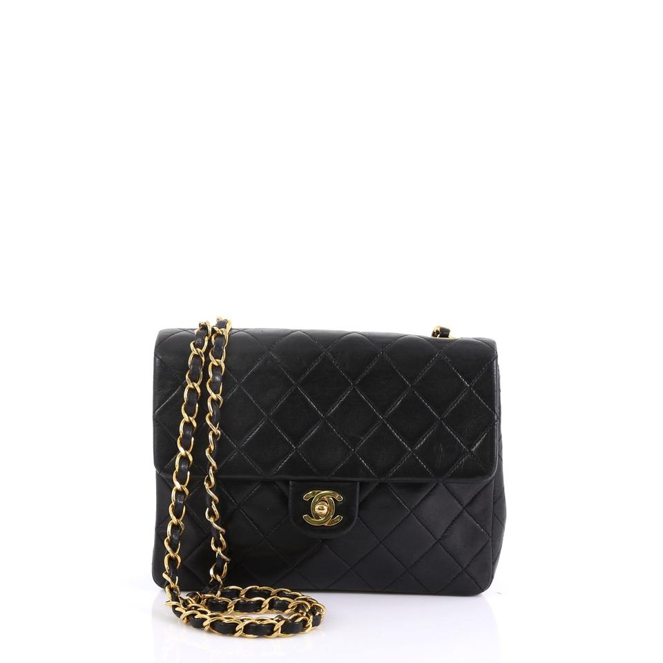 1cfd4f114711 Chanel Classic Flap Vintage Square Quilted Lambskin Small Black ...
