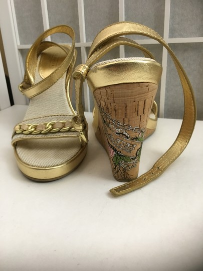 Coach Gold, Creme Wedges Image 1