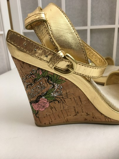 Coach Gold, Creme Wedges Image 2