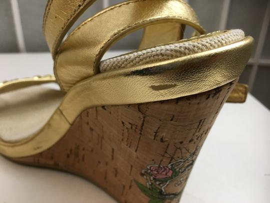 Coach Gold, Creme Wedges Image 8