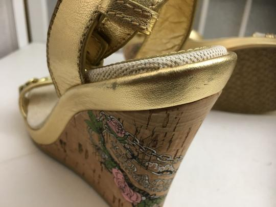 Coach Gold, Creme Wedges Image 9