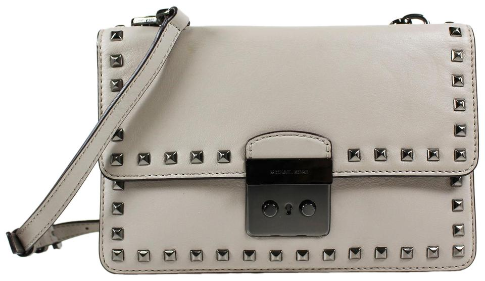 e4ab26603a2fd9 Michael Kors Sloan Studded Large Gusset Leather Cross Body Bag - Tradesy