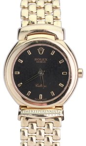 Rolex Rolex Cellini 18K Gold Black Jubilee Dial with Box and Papers
