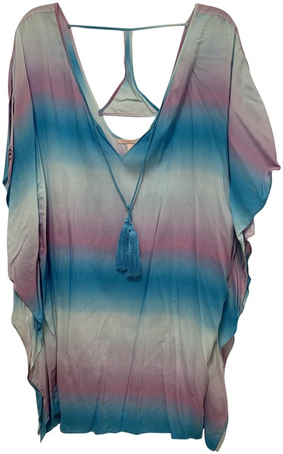 Item - Blue Pink Beach Cover-up/Sarong Size 2 (XS)