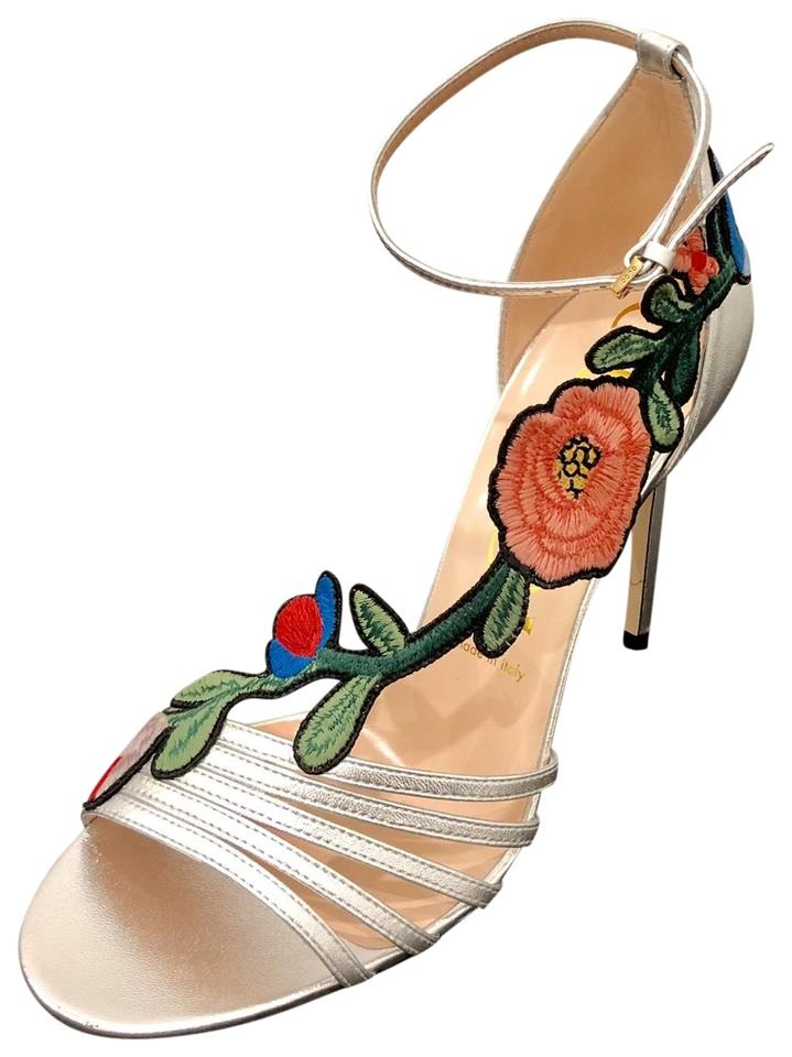 84e3ff9a9d0 Gucci Ophelia Embroidered Leather Sandals. Size  EU 36 (Approx. US 6) ...