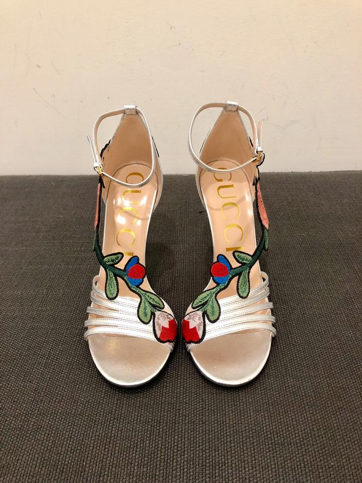 eb39b7f1510 Gucci Ophelia Embroidered Leather Sandals Size EU 36 (Approx. US 6) Regular  (M
