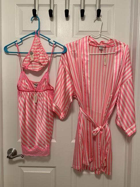 Item - Pink White Stripe Lingerie Set