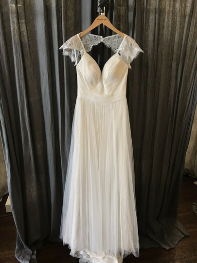 Stella York Ivory French Tulle and Lace 6199 Vintage Wedding Dress Size 8 (M) Image 1