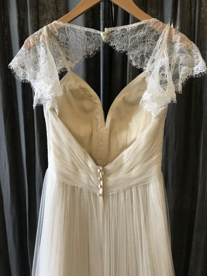 Stella York Ivory French Tulle and Lace 6199 Vintage Wedding Dress Size 8 (M) Image 2