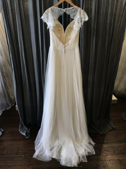 Stella York Ivory French Tulle and Lace 6199 Vintage Wedding Dress Size 8 (M) Image 3